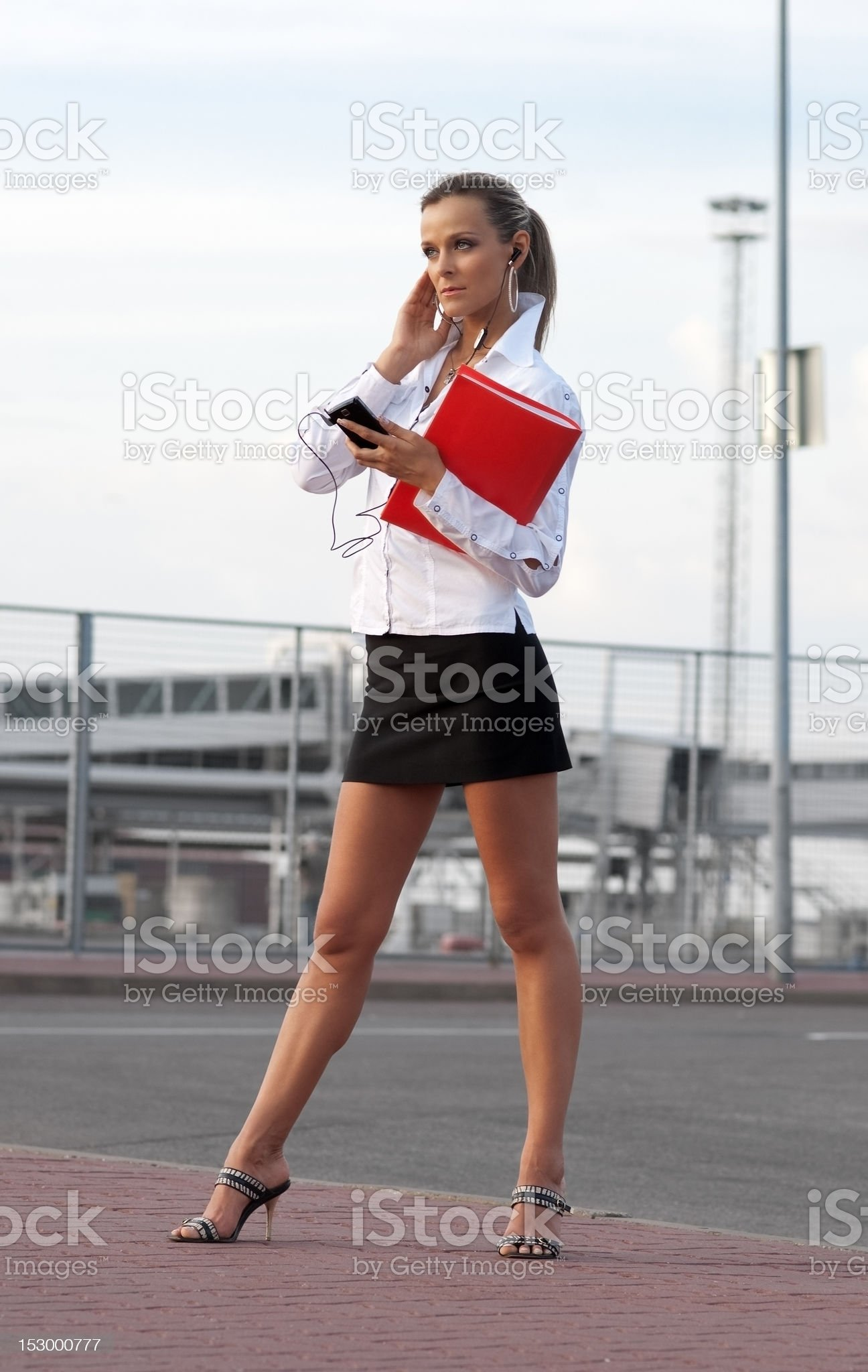 woman with cellphone royalty-free stock photo