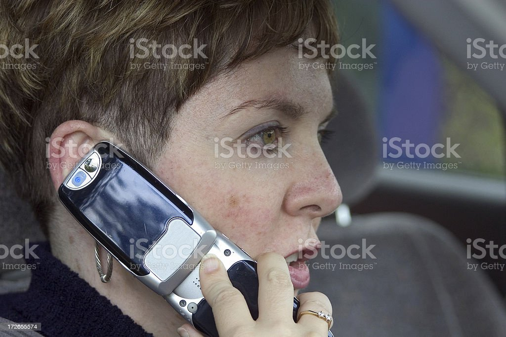 woman with cellphone #2 royalty-free stock photo