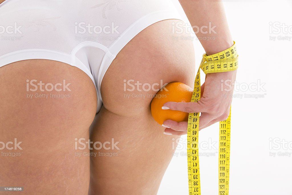 Woman with cellulite royalty-free stock photo