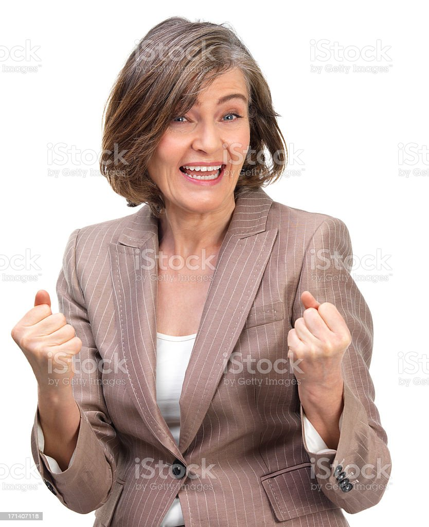 Woman with clenched fist royalty-free stock photo