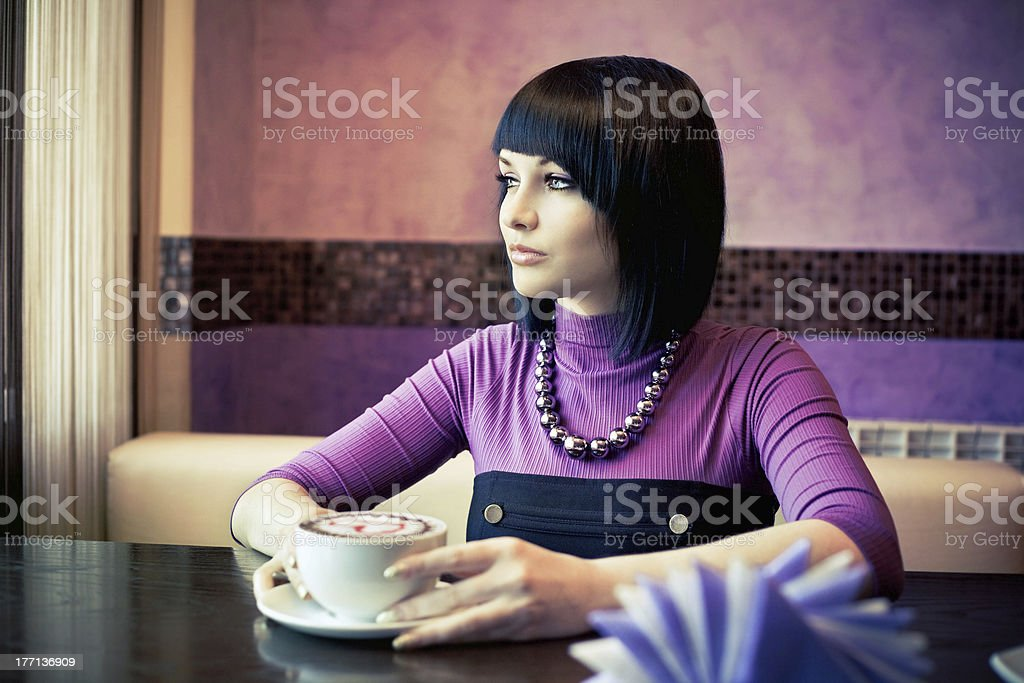 woman with coffe royalty-free stock photo