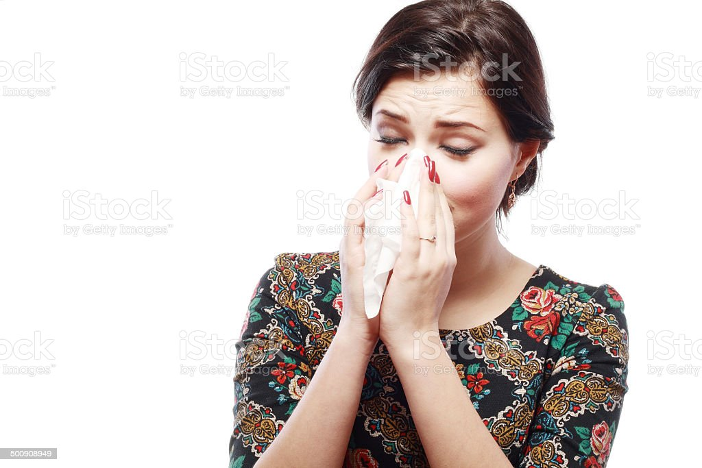 woman with cold stock photo