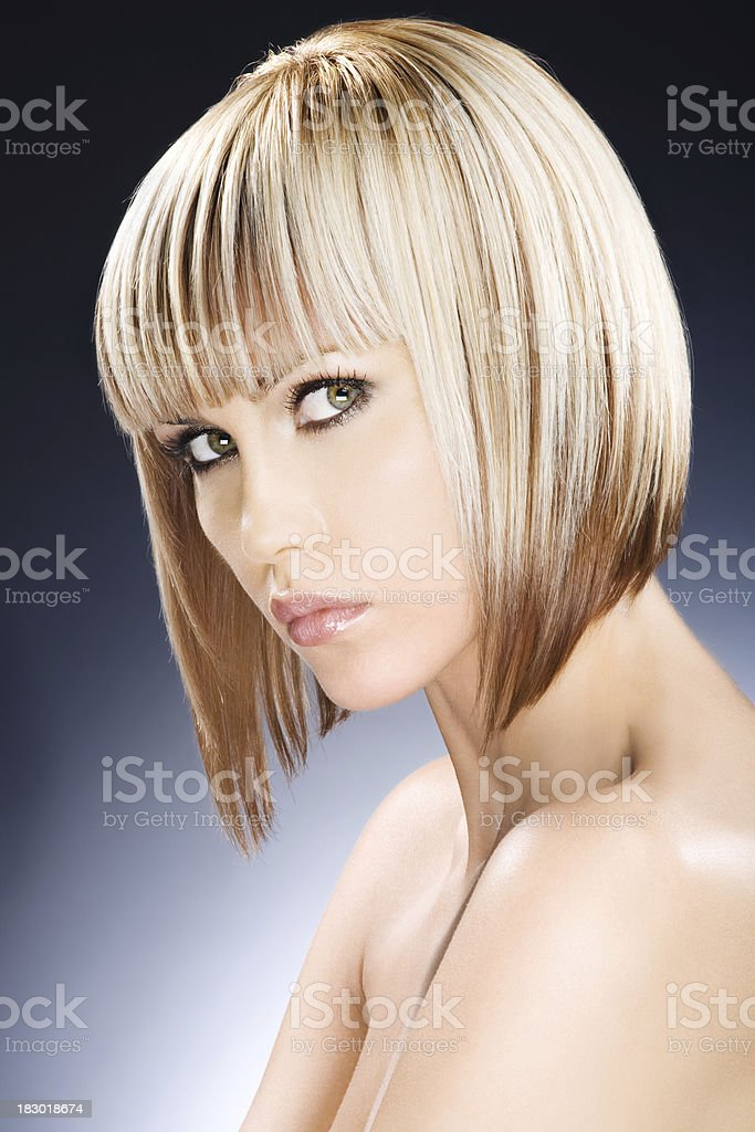 woman with colored hair royalty-free stock photo
