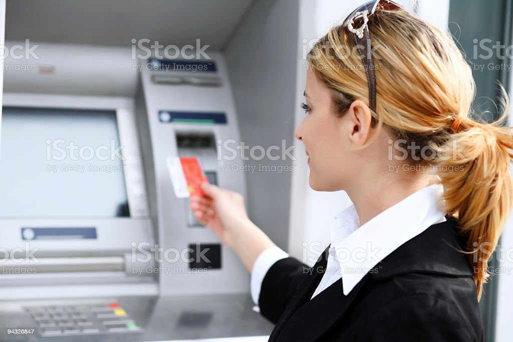 Woman with credit card. royalty-free stock photo