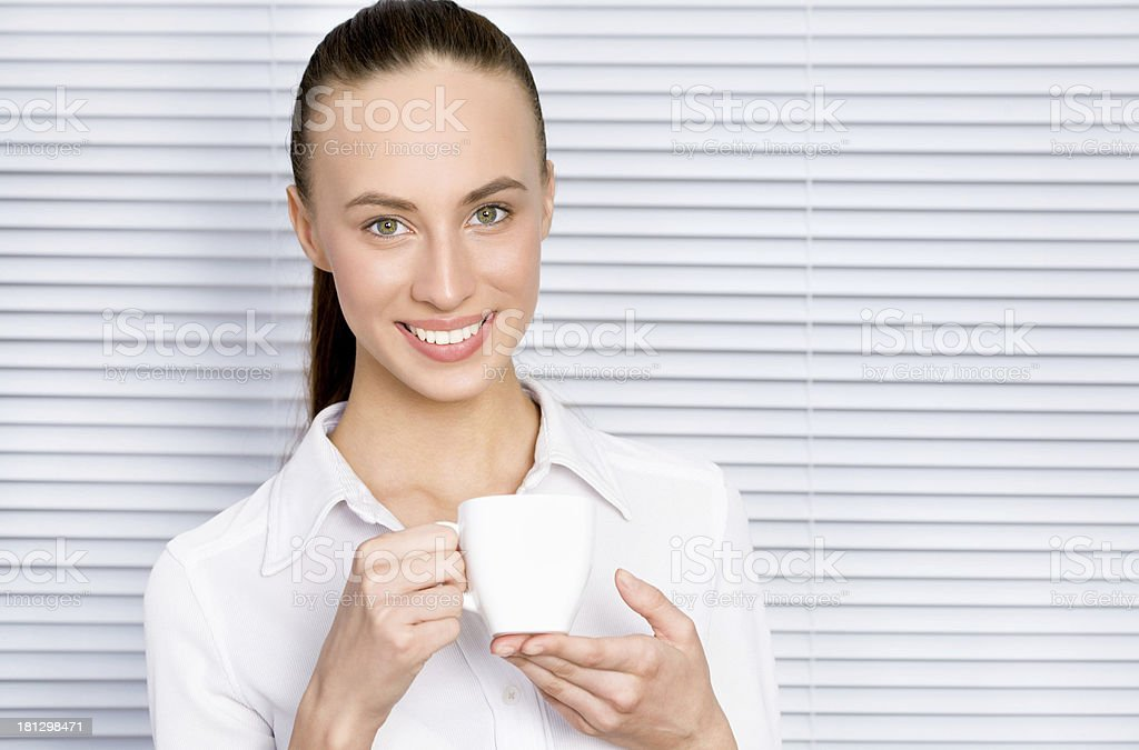 Woman with cupcake royalty-free stock photo
