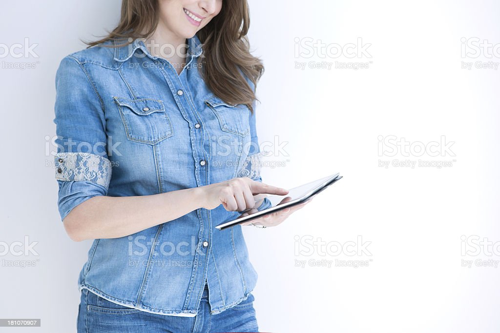 Woman with digital tablet. royalty-free stock photo