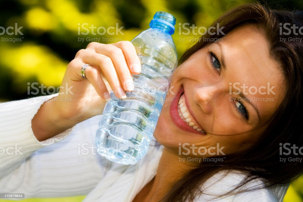 Woman with drink royalty-free stock photo