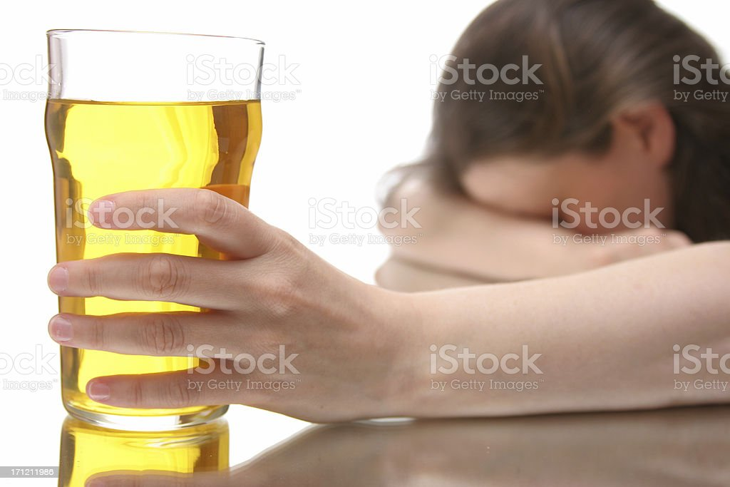 woman with drinking problem royalty-free stock photo