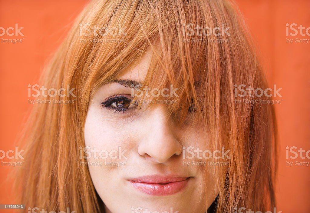 Woman with exasperated expression stock photo