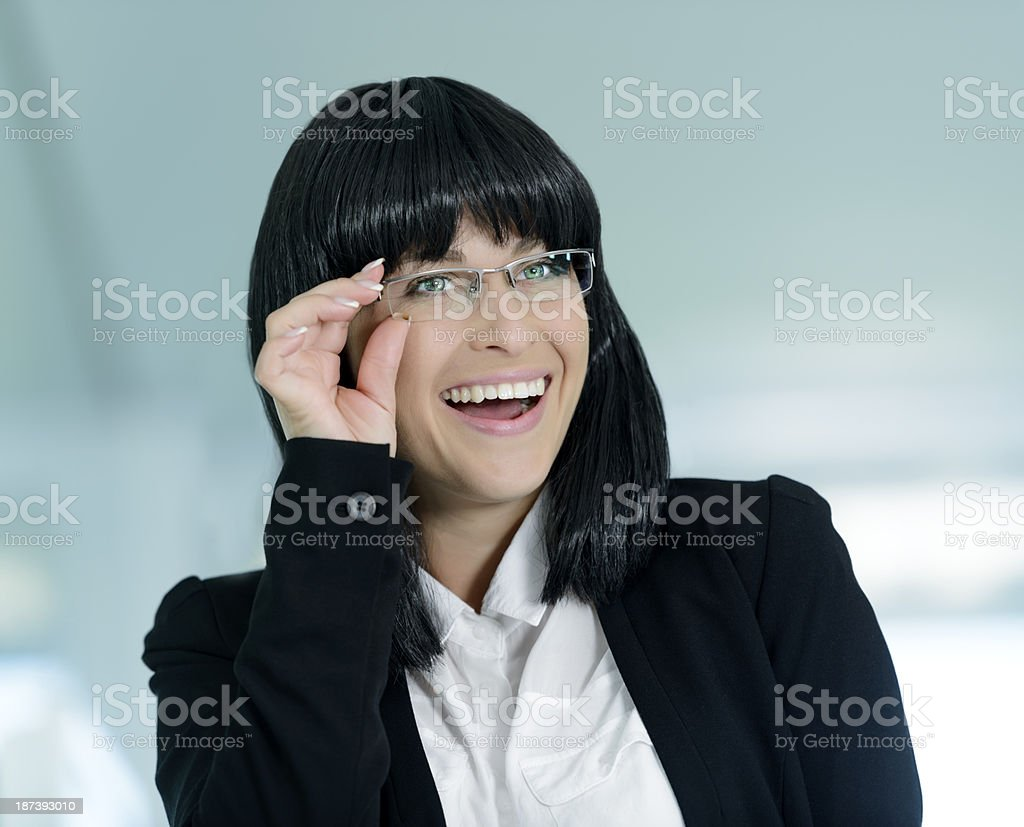 woman with eyeglasses royalty-free stock photo