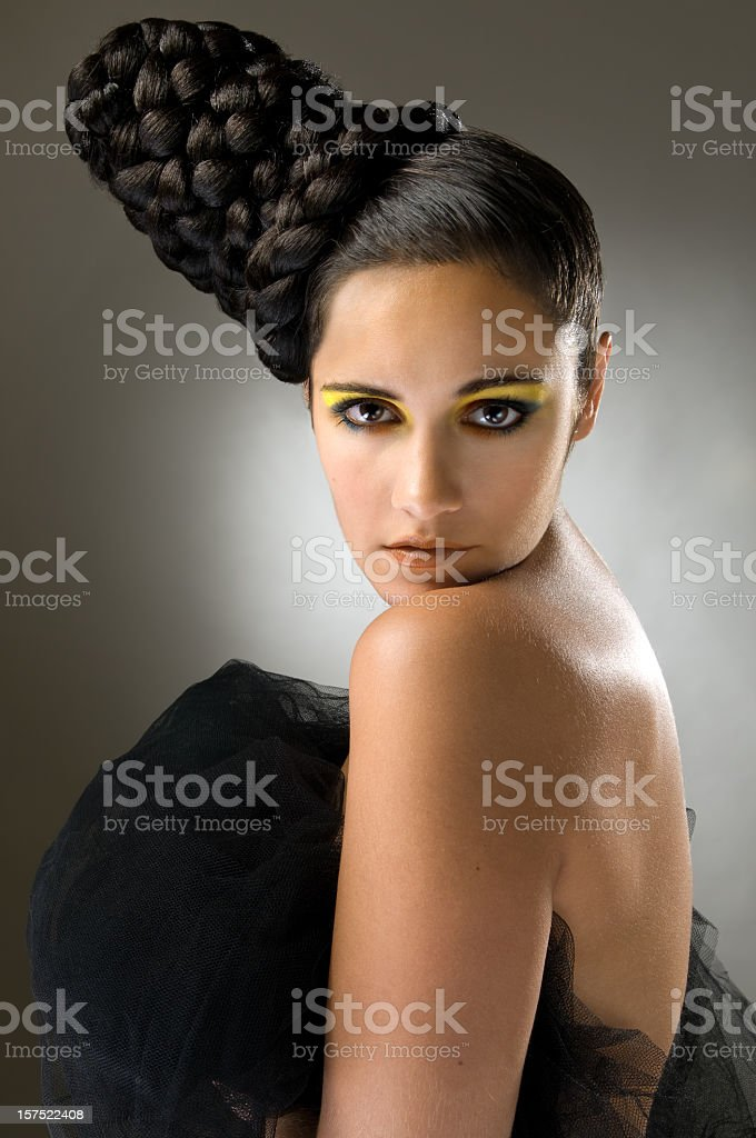 Woman With Fashion Hairstlye royalty-free stock photo