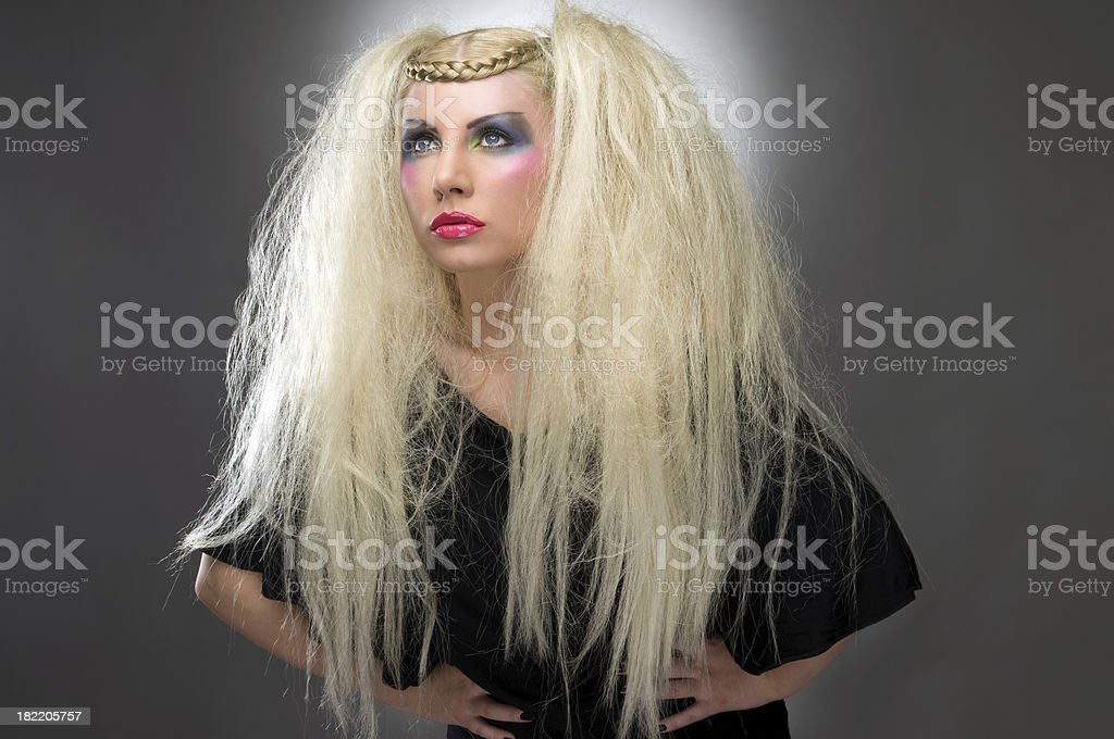 Woman With Fashion Hairstlye royalty-free stock photo