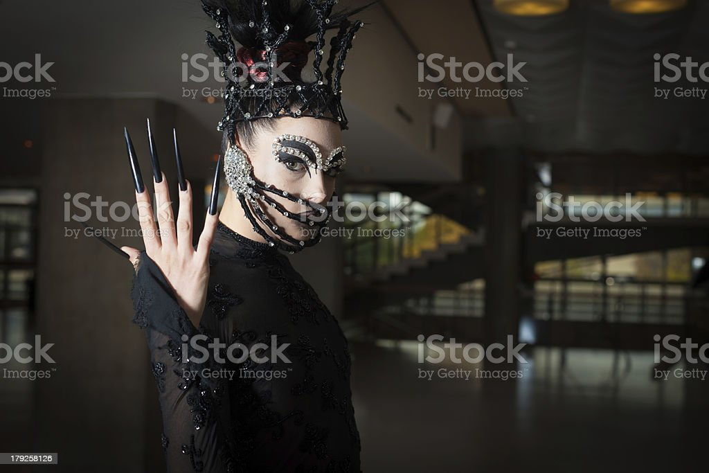 Woman with fashion outfit royalty-free stock photo