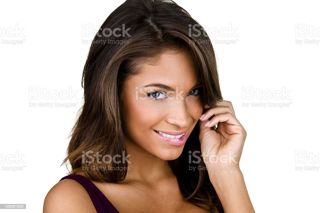 Woman with flirtatious expression royalty-free stock photo