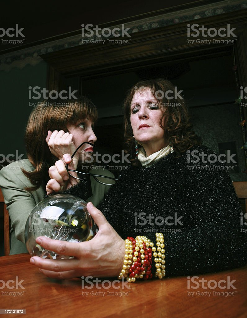 Woman with Fortune Teller royalty-free stock photo