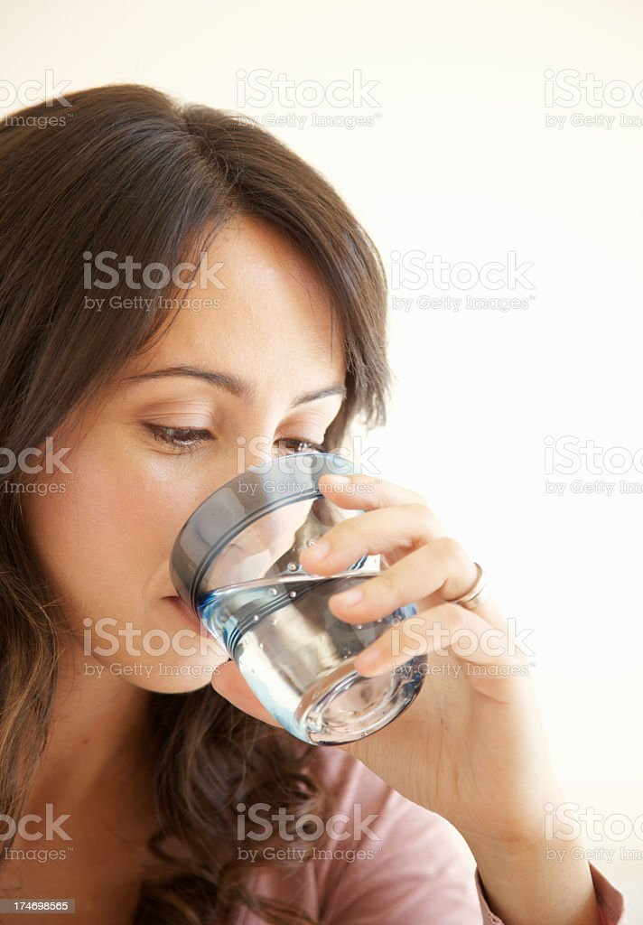 Woman with glass of water royalty-free stock photo