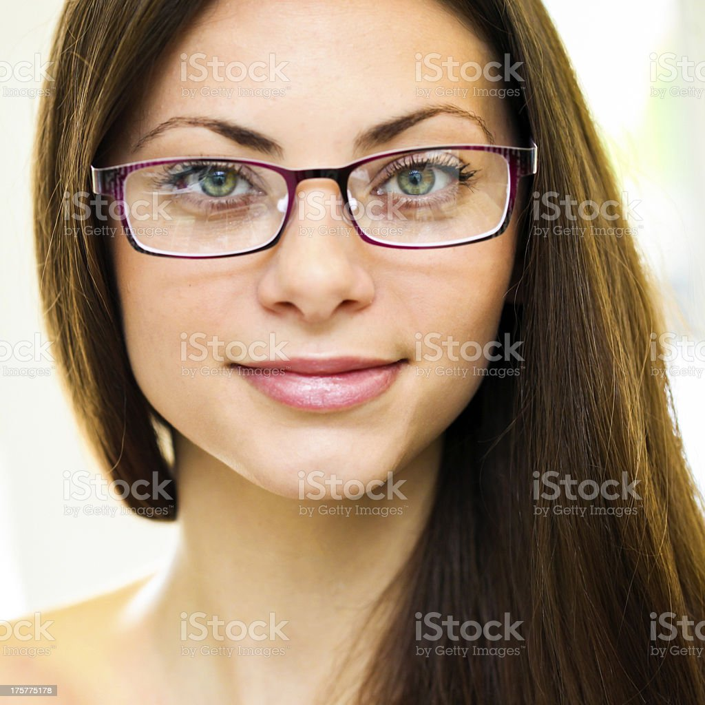 Woman with glasses royalty-free stock photo
