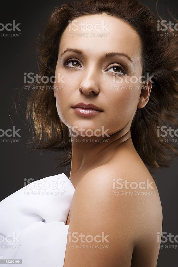 woman with great skin royalty-free stock photo