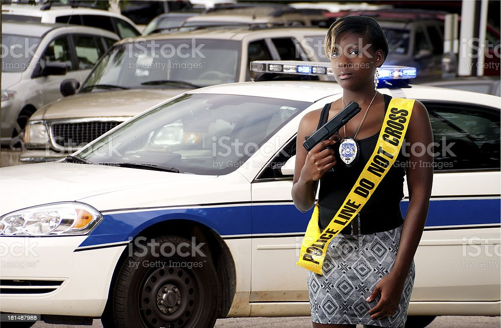 Woman with Gun royalty-free stock photo
