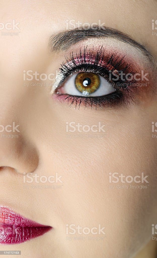 woman with hazel eye royalty-free stock photo