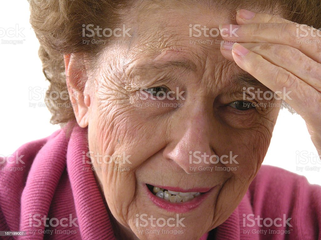 Woman with headache pain royalty-free stock photo