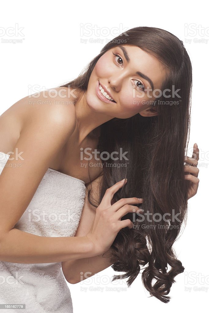 Woman with healthy hair royalty-free stock photo