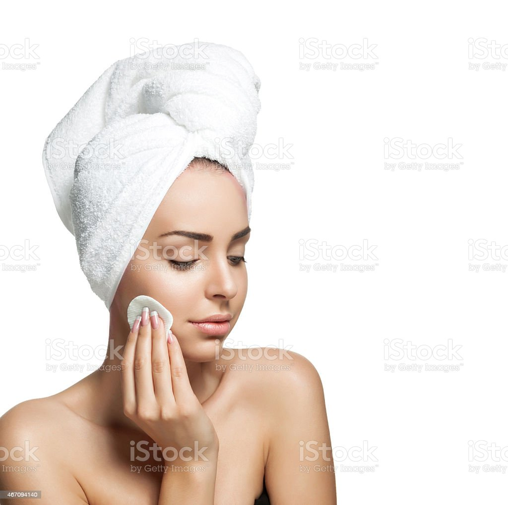 woman with healthy pure skin stock photo
