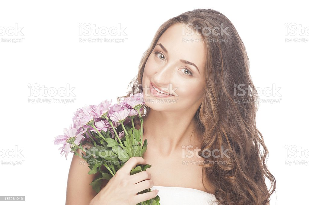 Woman with healthy skin royalty-free stock photo