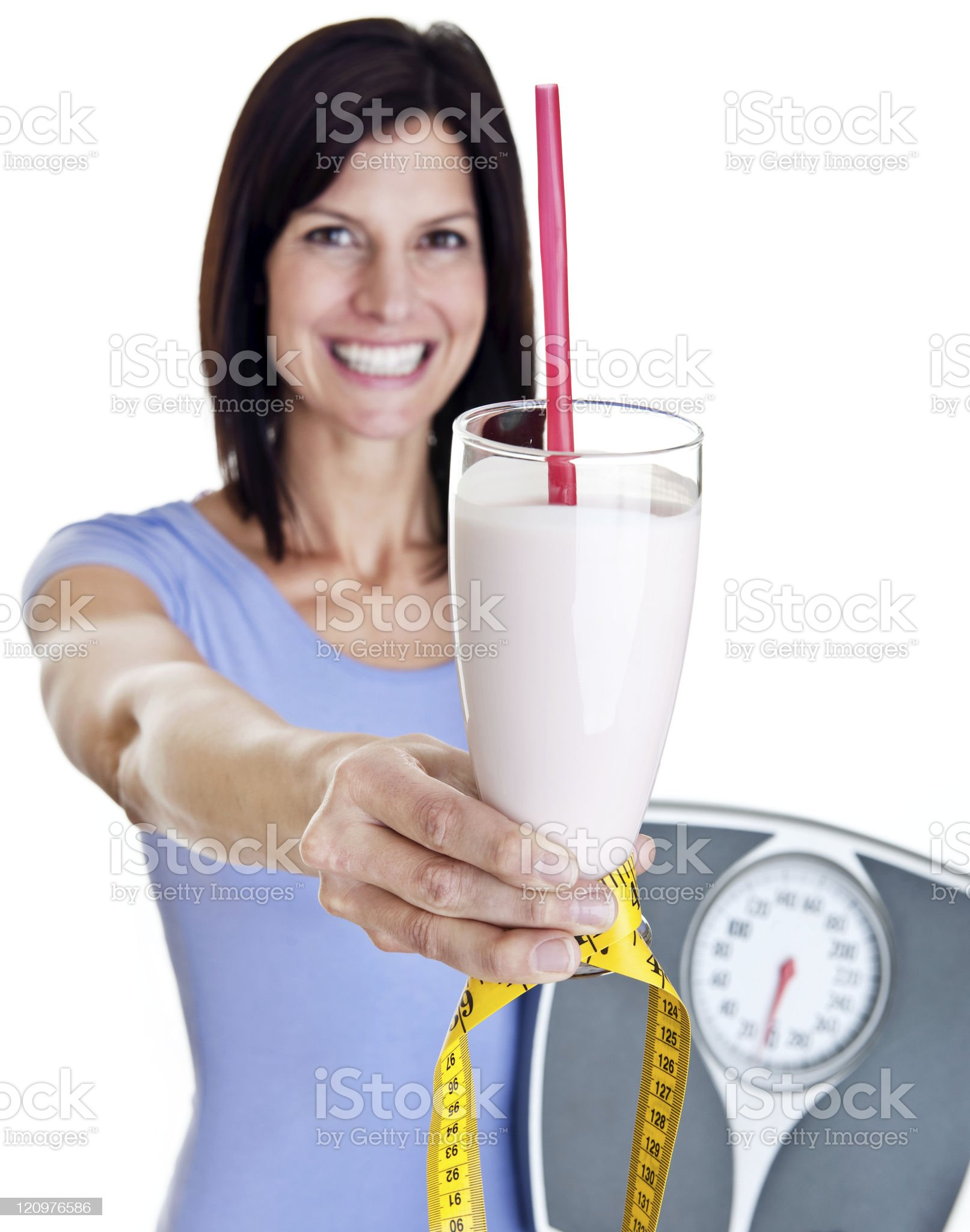 Woman with healthy smoothie royalty-free stock photo