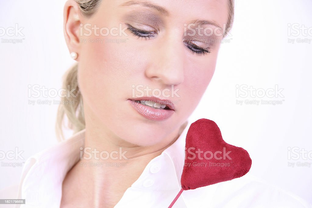 Woman with heart royalty-free stock photo