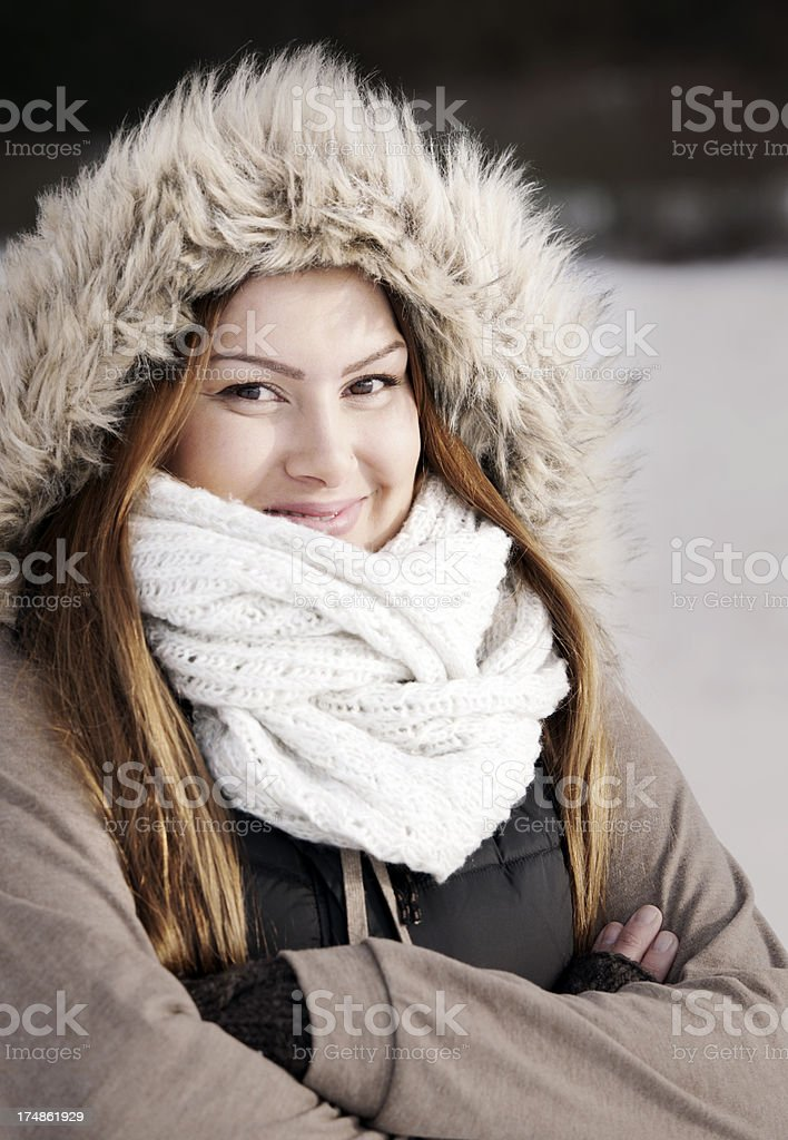 Woman with hood royalty-free stock photo