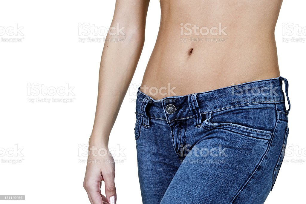 Woman with hourglass figure stock photo