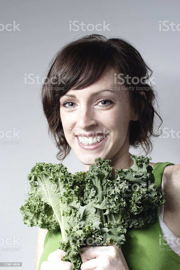 Woman with Kale royalty-free stock photo