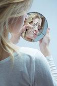 Woman with low self-esteem
