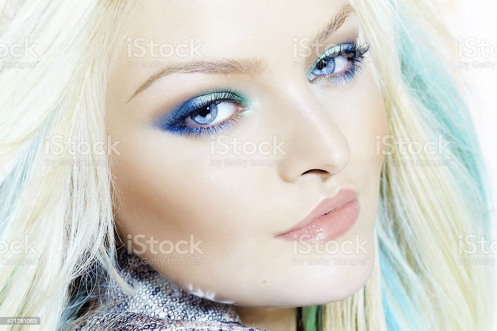 Woman With Make-Up royalty-free stock photo