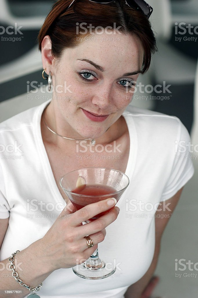 Woman with Martini royalty-free stock photo