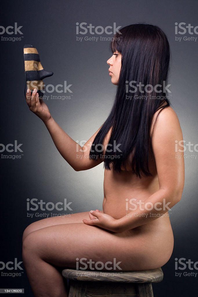 woman with  mask. royalty-free stock photo