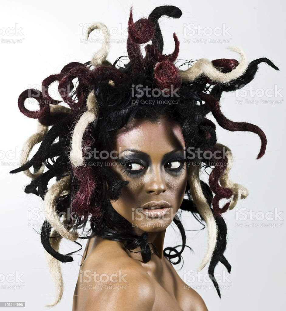 Woman with Medusa Style Hair royalty-free stock photo