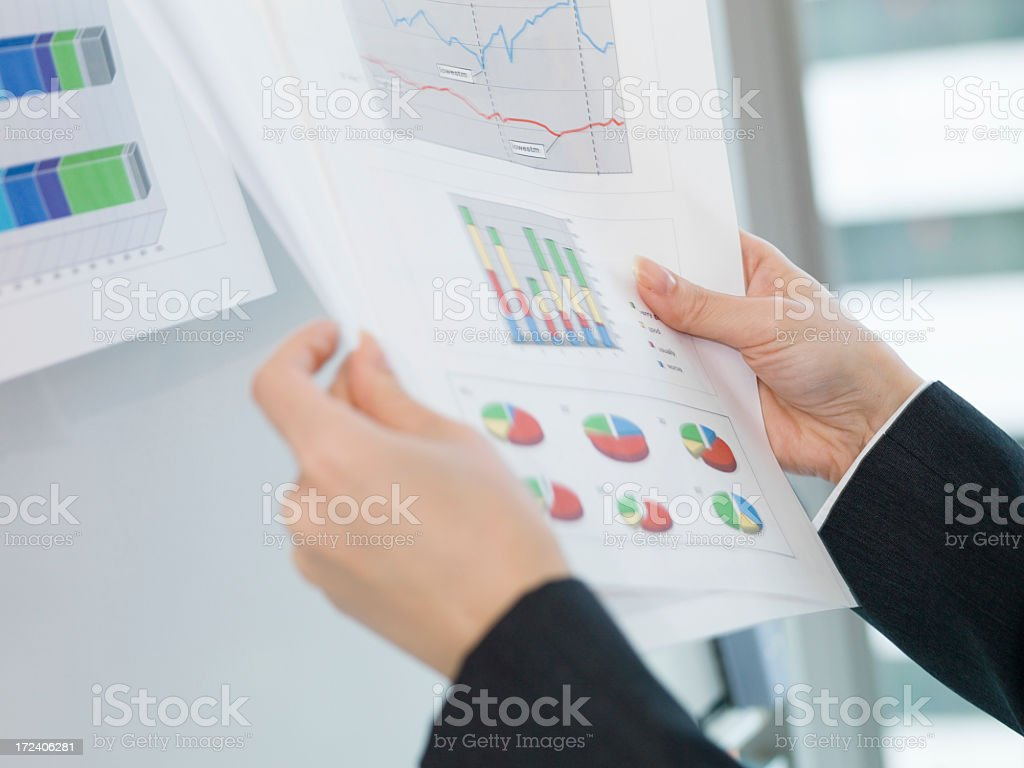 Woman with meeting materials. royalty-free stock photo