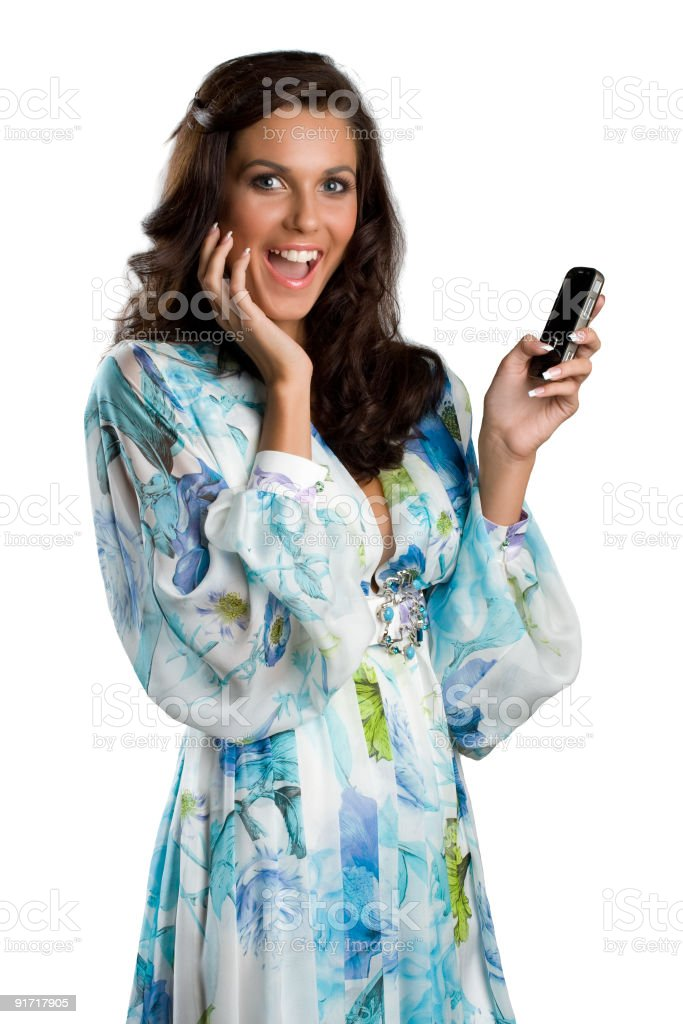 Woman with mobile phone. royalty-free stock photo