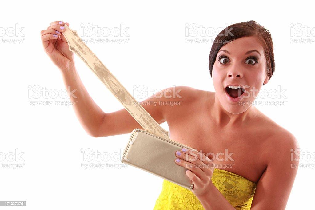 Mujer con dinero foto de stock libre de derechos