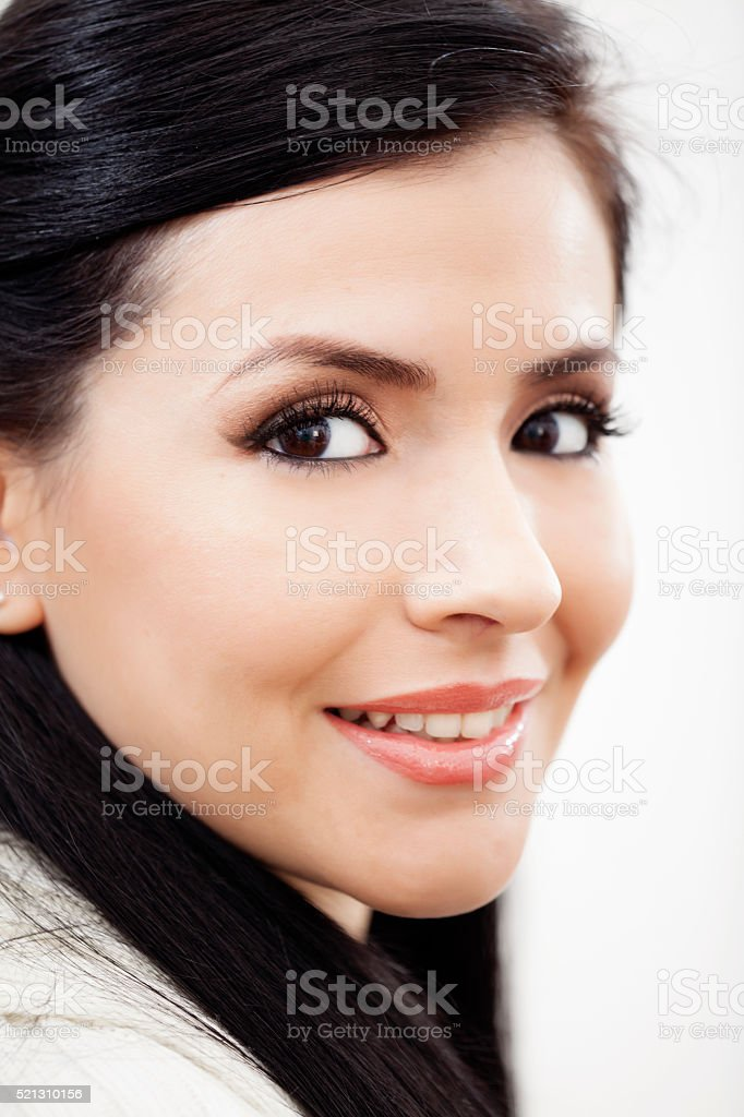 Woman with natural Make Up stock photo
