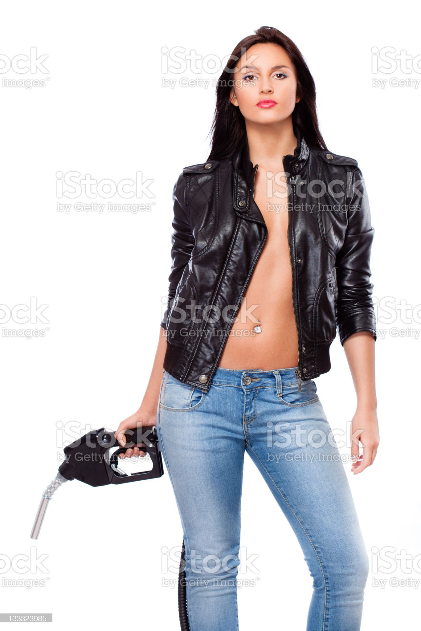 woman with nozzle royalty-free stock photo