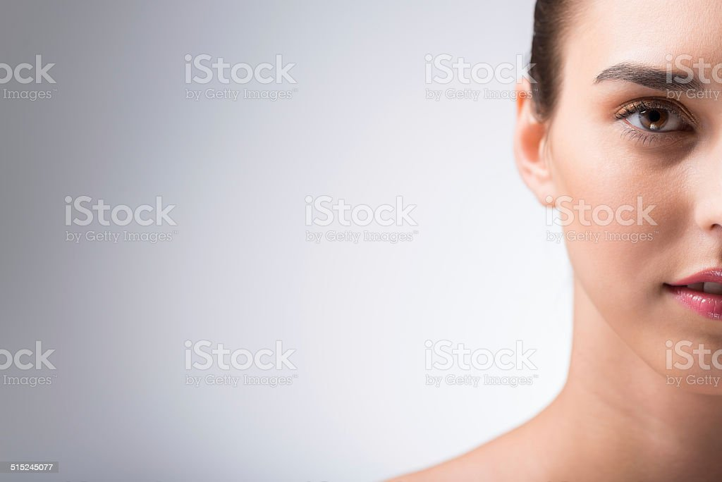 Woman with perfect skin stock photo