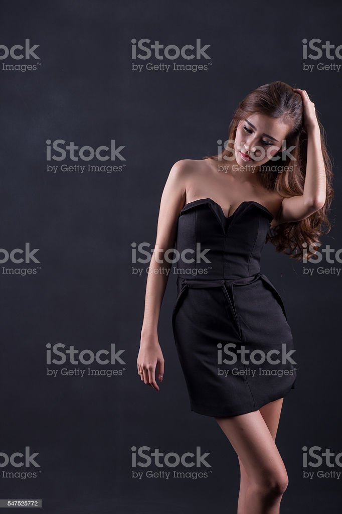 woman with perfect slim body stock photo