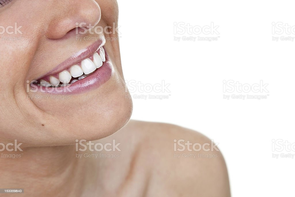 Woman with perfect smile royalty-free stock photo