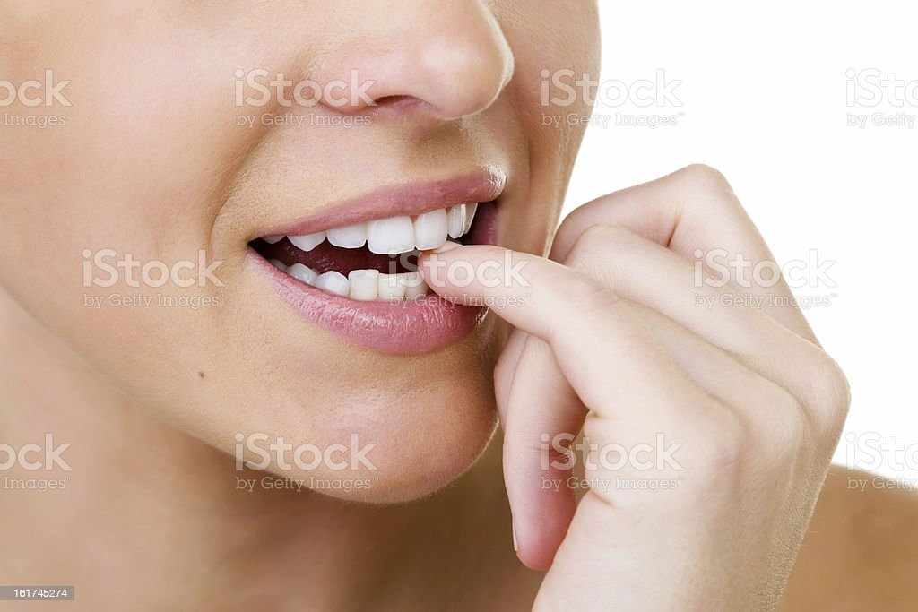 Woman with perfect teeth royalty-free stock photo