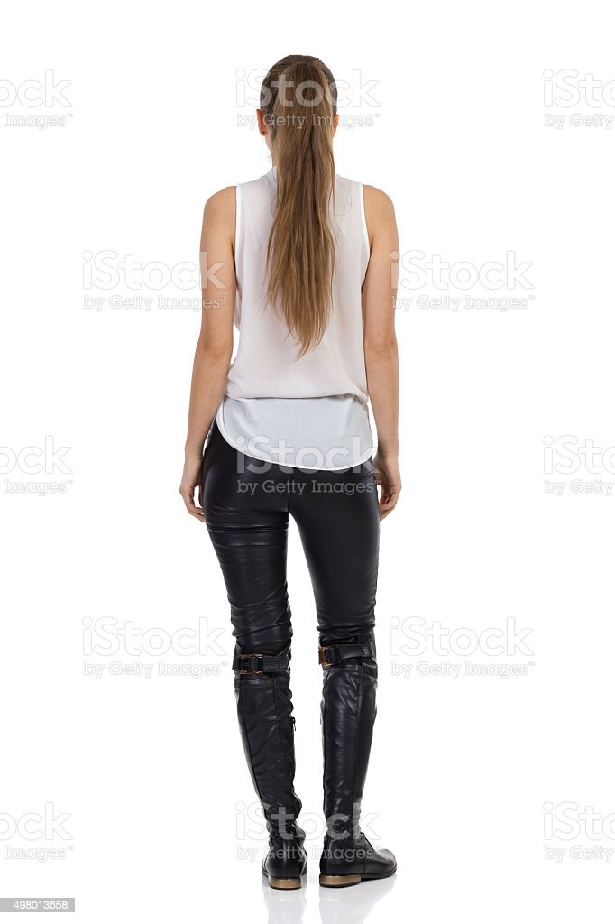 Woman With Ponytail stock photo