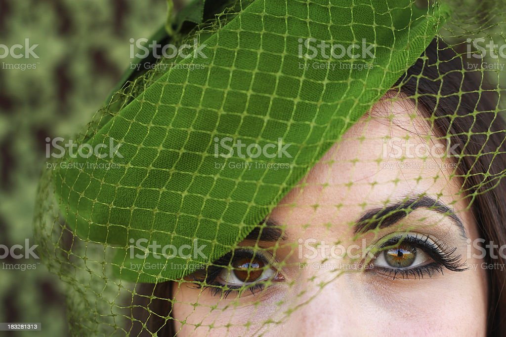 Woman With Pretty Eyes stock photo