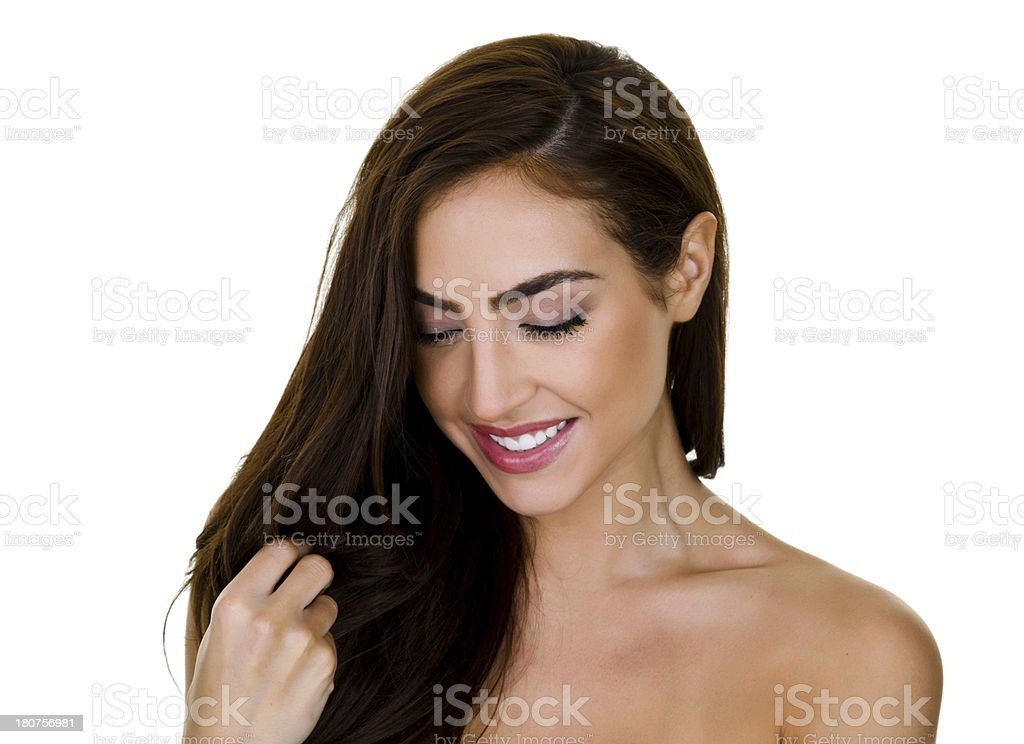 Woman with pretty hair royalty-free stock photo